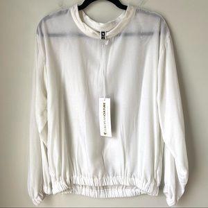European Culture White Velour Sweatshirt